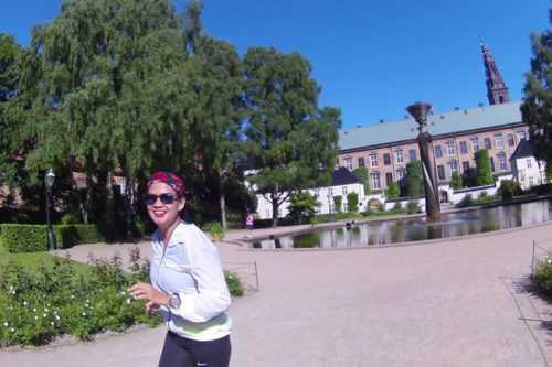 Half marathon running tour in Copenhagen